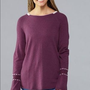 NWT Smartwool bell sleeve crew sweater M